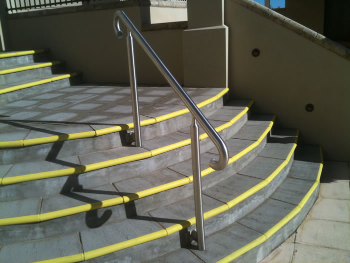 Stainless steel fabrication toowoomba metal fabrication - Removable swimming pool handrails ...
